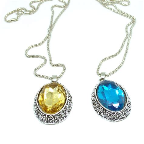 Kalung Silver 925 Liontin Chanel oval gemstone necklace 925 sterling silver kalung wanita blue jakartanotebook