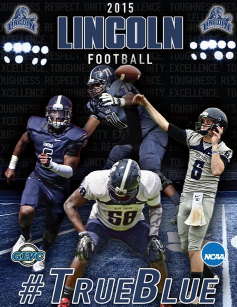 lincoln blue tigers football 2015 lincoln football media guide by lincoln
