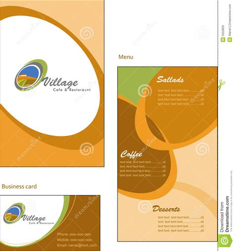 template designs of menu and business card for co royalty