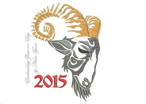 new year wishes goat year of the goat embroidery design for congratulations on