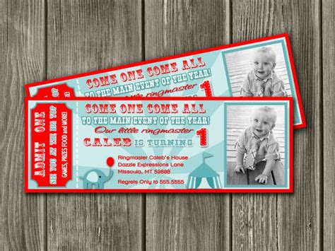 circus ticket template free vintage circus ticket invitation free thank you card