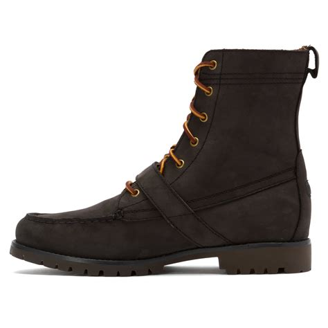 polo boot polo ralph ranger lace up boot in black for lyst