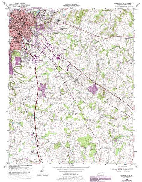 kentucky map hopkinsville hopkinsville topographic map ky usgs topo 36087g4