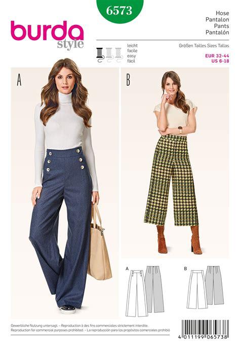 pattern sewing burda burda 6573