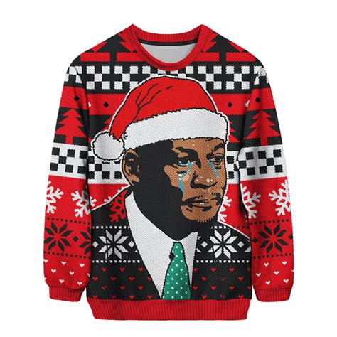 Meme Ugly Christmas Sweater - the crying mj christmas sweater is real and it s available