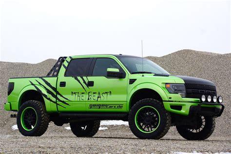 green ford raptor geigercars garish green ford f 150 svt raptor beast edition