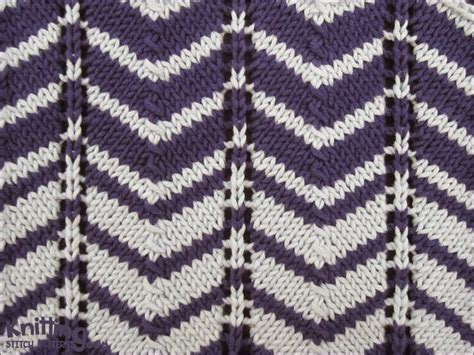 2 colour knitting two color chevron knitting stitch patterns