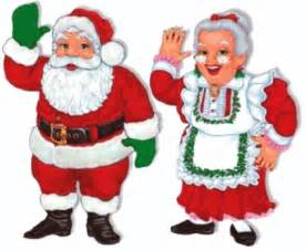 Santa and mrs claus are coming to the library taber library