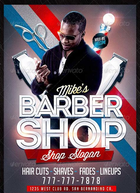 barber shop template 25 beautiful premium flyer psd templates designmaz