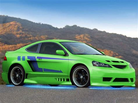 Hd Car Wallpapers 1080p Vs Green by Green Modified Acura Rsx Hd Wallpaper