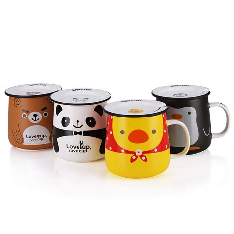 tea and coffee mugs upstyle cute coffee mug animal pattern ceramic cup travel