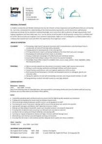 Resume Sle For Chef by Chef Resume Template Ilivearticles Info