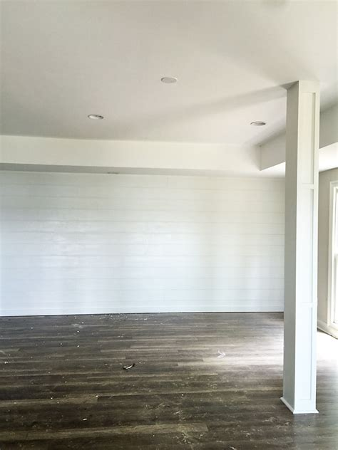 Shiplap Walls Quot How To Quot Shiplap Wall Open Pipe Shelving S