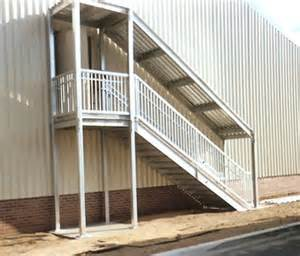 Outside Stairs With Landing by Prefabricated Stair Landings