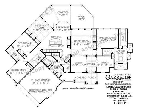 nantahala floor plan nantahala cottage house plan 08085 1st floor plan rustic