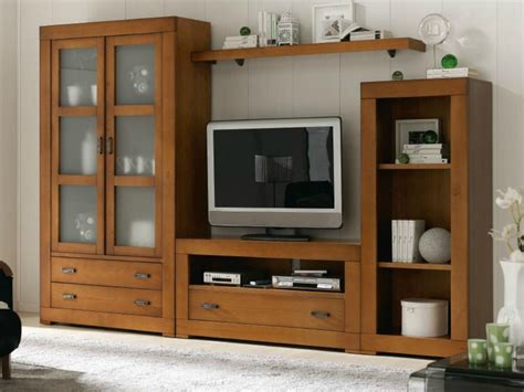 mueble de salon madera maciza en pino fuenlabrada