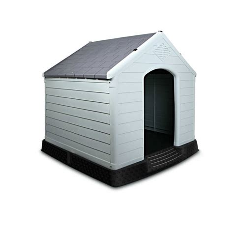 heavy duty dog house heavy duty plastic dog kennel house in grey 99cm buy plastic dog houses
