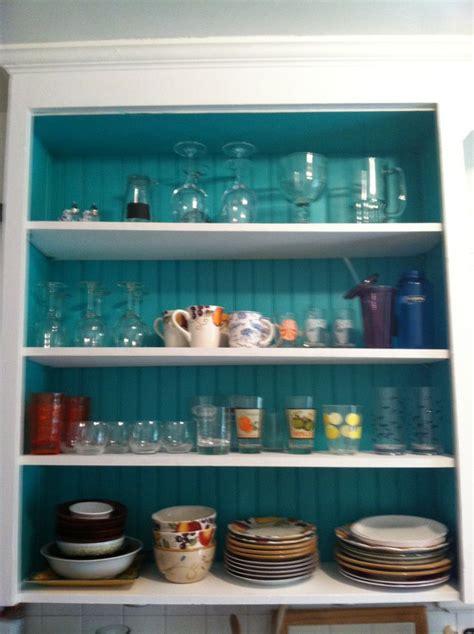 tantalizing teal inside kitchen cabinets kitchen
