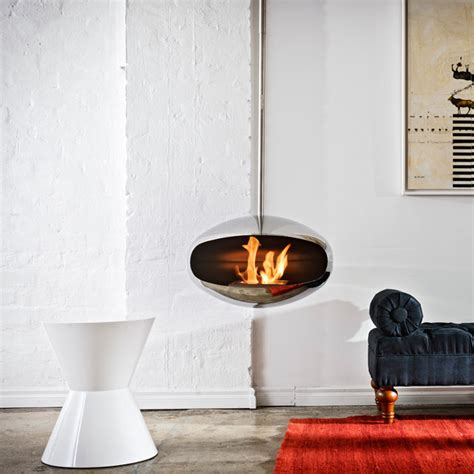 modern fireplaces images cocoon fires aeris stainless steel fireplace modern