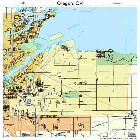 map of oregon ohio oregon ohio map 3958730