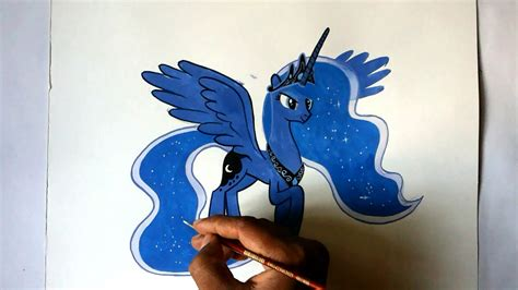 how to draw an alicorn princess from my little pony how to draw my little pony princess luna alicorn pony doovi