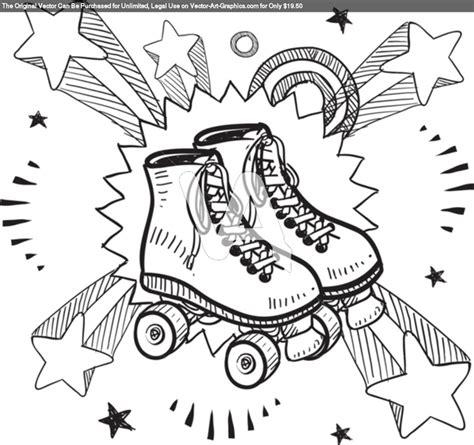 Roller Skate Coloring Page 8 best skate color sheets images on roller