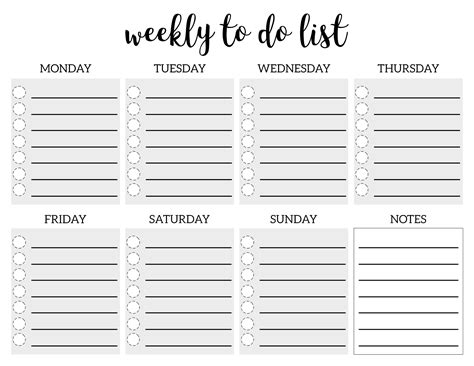 to do list weekly template weekly to do list printable checklist template paper