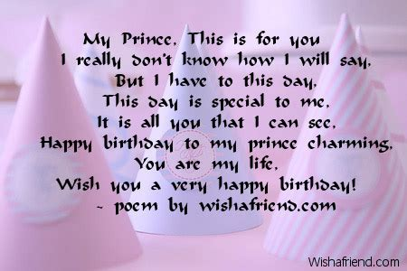 Birthday Quotes Boyfriend My Prince This Is For You Boyfriend Birthday Poem