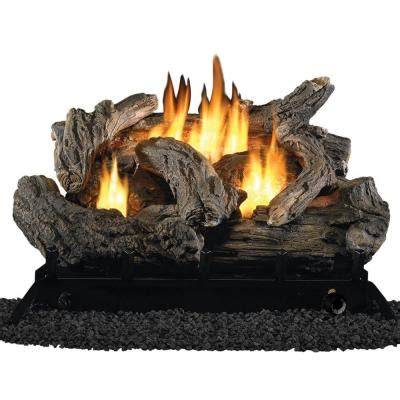 procom 24 in vent free dual fuel gas fireplace logs