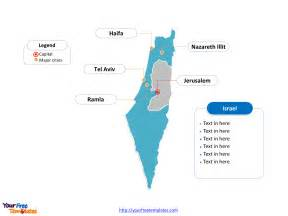 Free Outline Map Of Israel by Free Israel Editable Map Free Powerpoint Templates