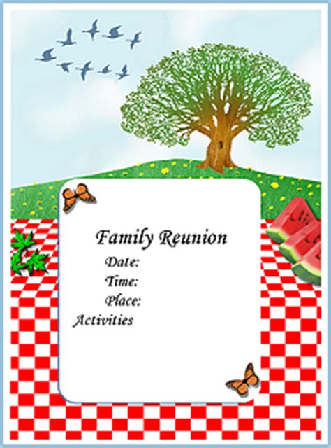 family reunion book template created especially to help you coordinate a big family