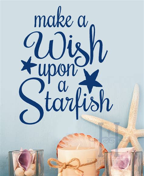 Coastal Home Decor Stores by Beach Decor Wall Decal Words Make A Wish From