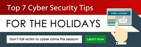 7 Secrets To Gear Up For The Holidays by Top 7 Cyber Security Tips For The Holidays Ontech Systems