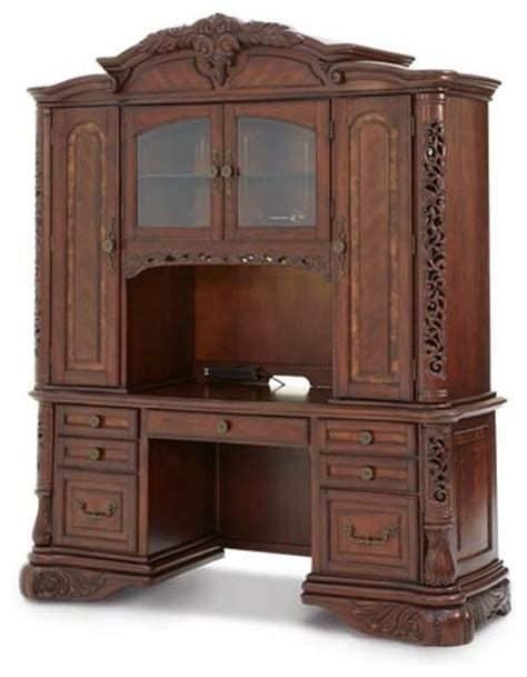aico furniture excelsior home office desk with credenza
