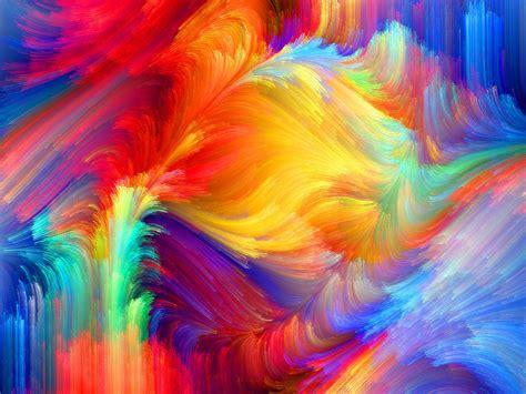 paint colorful spot relief paint volume pattern rainbow hd wallpaper
