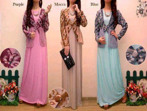 Gamis Tebal Free Sabuk model baju gamis batik kombinasi sifon trend baju batik terbaru model baju batik