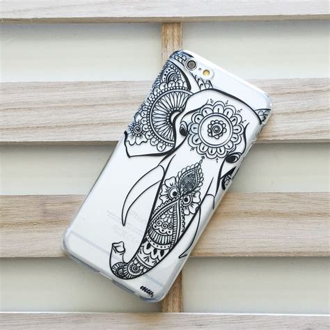 henna design iphone 6 case clear plastic case cover for iphone 5 5s henna black