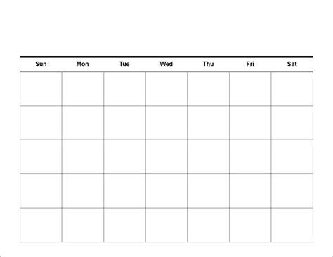 view blank calendar