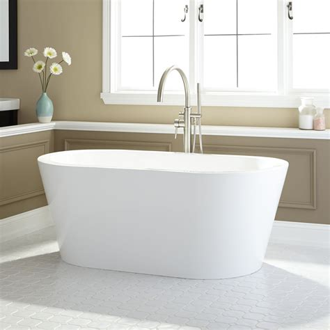 Bathroom With Bathtub And Shower Leith Acrylic Freestanding Tub Freestanding Tubs Bathtubs Bathroom