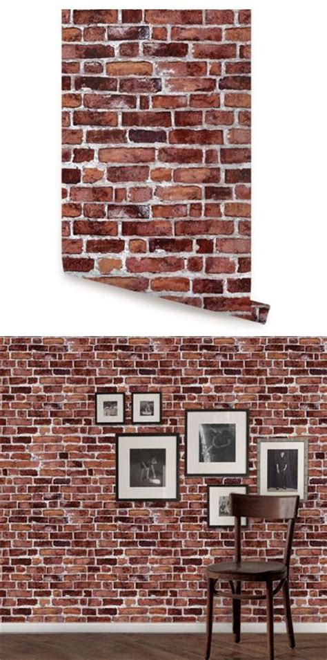 red peel and stick wallpaper brick red peel and stick wallpaper wall sticker outlet