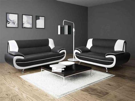 black and white sofa carolina faux leather set 3 2 leather sofa sets