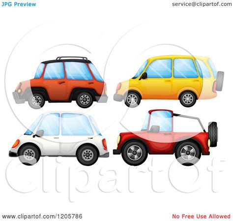 cartoon jeep cartoon of suvs and a jeep royalty free vector clipart