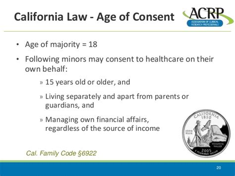 State Laws And Informed Consent 2015 California Laws Minors