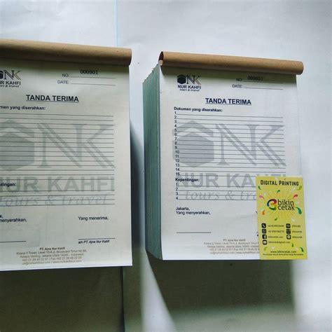 Printer Nota Rangkap cetak nota kwitansi percetakan murah surabaya