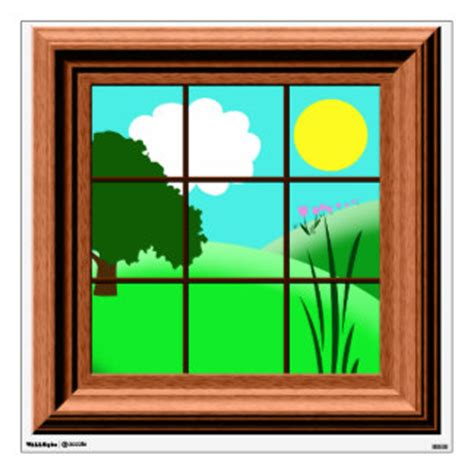 Colorful Home Decor by Cartoon Window Gifts On Zazzle