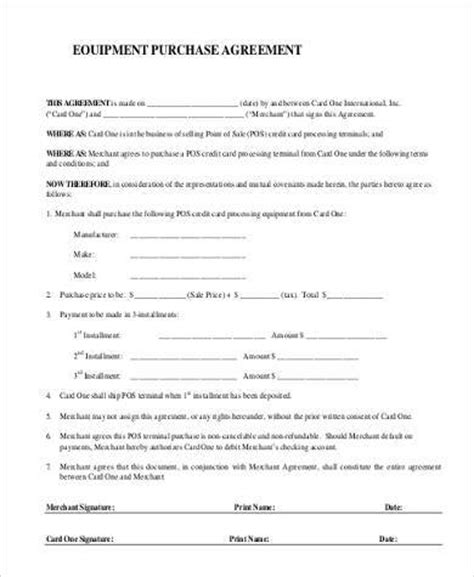 equipment purchase agreement template simple agreement forms 31 free documents in word pdf