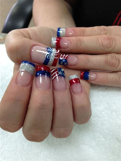 red acrylic 4th of july nils 42 best july 4th nail art images on pinterest nail