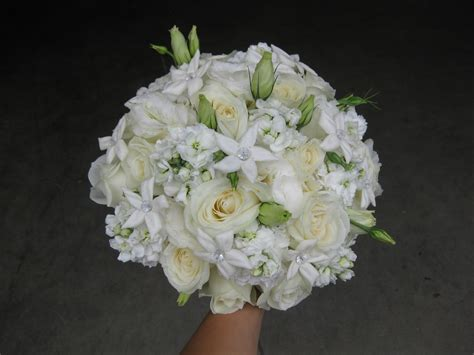 All Wedding Flowers by All White Wedding Bouquet Stadium Flowers