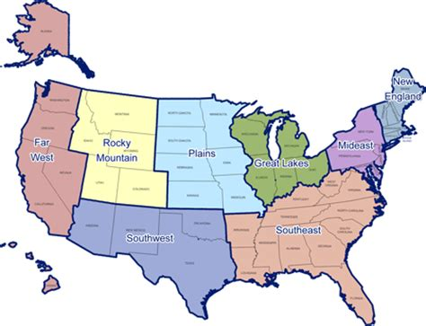 8 regions of the united states map united states 8 regions map