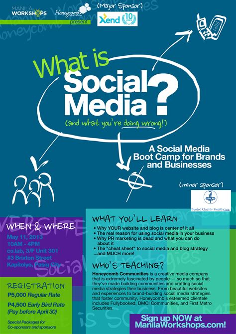 design poster social media what is social media